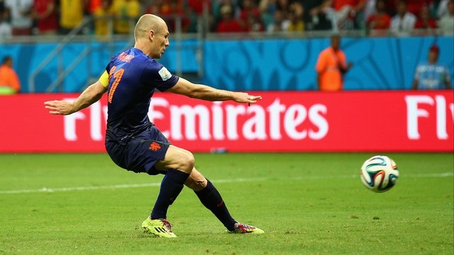 Arjen Robben was one of the outstanding performers in the World Cup