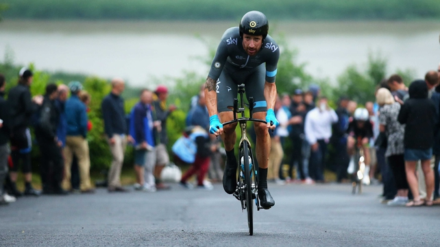 Bradley Wiggins won his third British national time trial title on Thursday