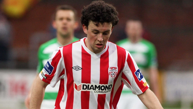 Barry McNamee equalised for Derry on the stroke of half-time
