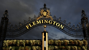 The Winning Post at Flemington Racecourse in Melbourne, Australia