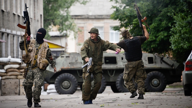 A separatist leader said that Ukrainian rebels were receiving new military equipment
