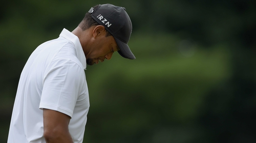 Tiger Woods was playing his first tournament since surgery in March