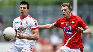 Tyrone's PJ Quinn in action during Saturday's qualifier win over Louth