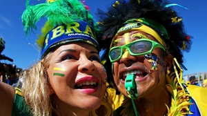 As tens of thousands of Brazil supporters soaked up the sun