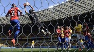Chile keeper Claudio Bravo made more than one beautiful saves early in the first half
