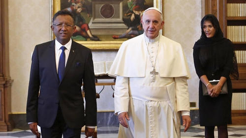 Pope Francis met the Madagascan president today
