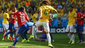 At 18' though, Brazil grabbed an early lead when Neymar's corner bounced off the shin of Chile defender Gonzalo Jara