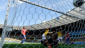 The own-goal appeared to many to be the work of Brazil defender David Luiz, who promptly celebrated as if he had done all the work