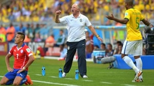 While Brazil coach Luis Felipe Scolari maintained a fiery presence on the sidelines