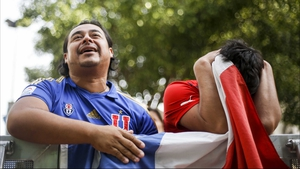Chile fans were restless with anticipation for the period of extra time