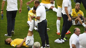 Brazil defender and captain Thiago Silva did the same
