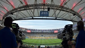 Cameramen prepared to capture all the action at the famed Estádio Maracanã