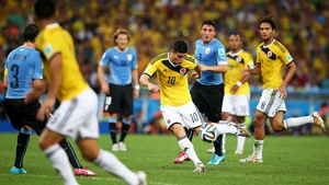 James Rodriguez has added the goal of the tournament award to the World Cup golden boot prize