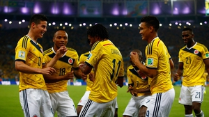 The Colombians danced as they lengthened their lead to 2-0, although with quite a bit of football left to play