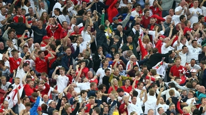 Some England supporters chanted anti-German songs in Dortmund