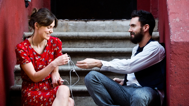 Keira Knightley and Adam Levine in Begin Again