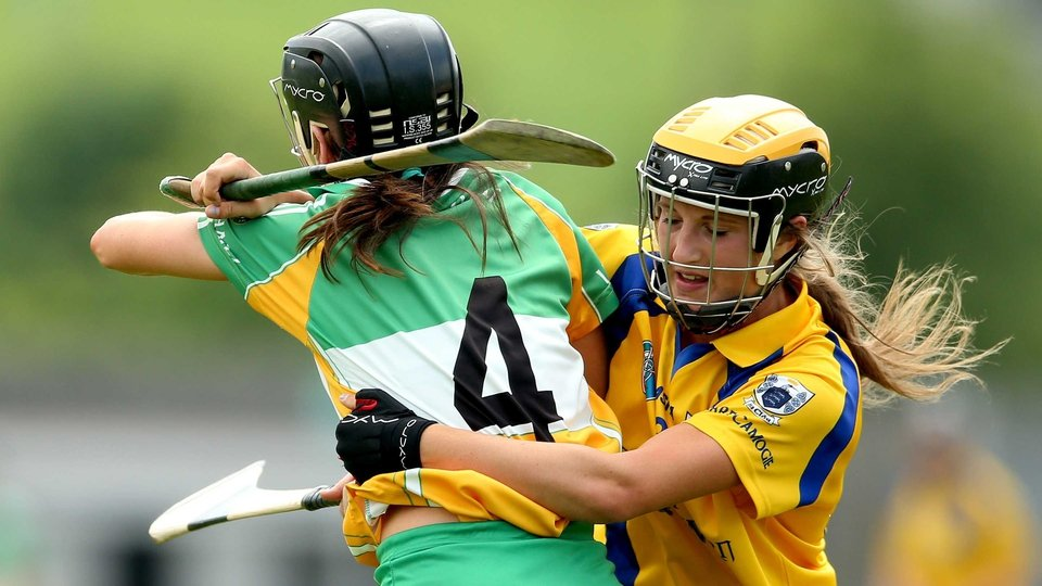 No quarter given as Offaly's Marion Crean and Ellen Horgan of Clare vie for supremacy