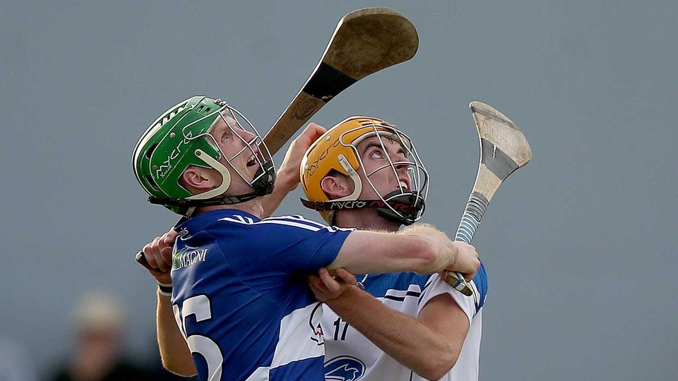 Eyes on the prize for Laois' Tommy Fitzgerald with Padraig Prendergast of Waterford