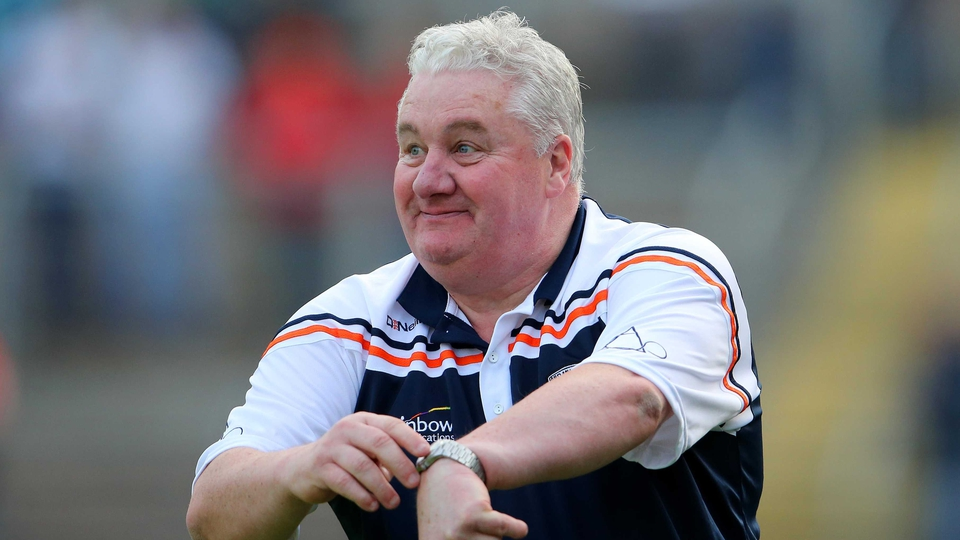Armagh manager Paul Grimley's mindful of the time during his team's game against Monaghan