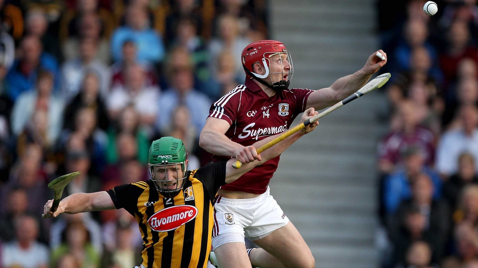 Kilkenny's Paul Murphy and Canning battle for the sliotar