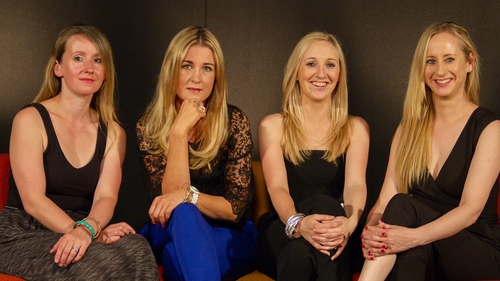 (l-r) Sarah Flood, Sorcha Furlong, Elaine O'Connor, Caroline Grace-Cassidy - Film will be shown at the Town Hall Theatre in Galway on Friday July 11 at 12:00pm