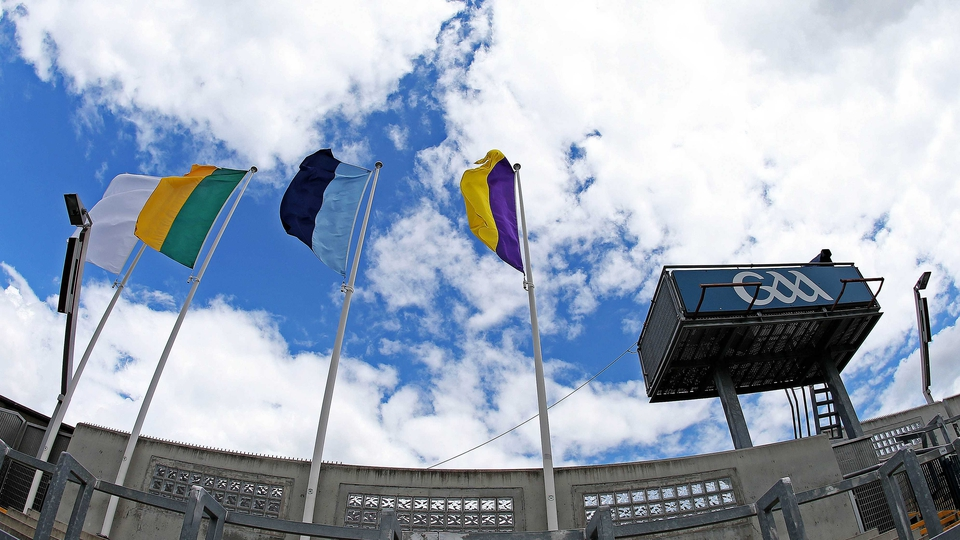 Flags fly outside Croker ahead of Sunday's two Leinster SFC semi-finals