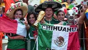 Mexico fans were back en force, outnumbering the Dutch fans by a good margin