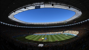 As the pitch side temperature reached 38.8 degrees in the Estádio Castelão, even though shadow covered much of the interior at the start of the match