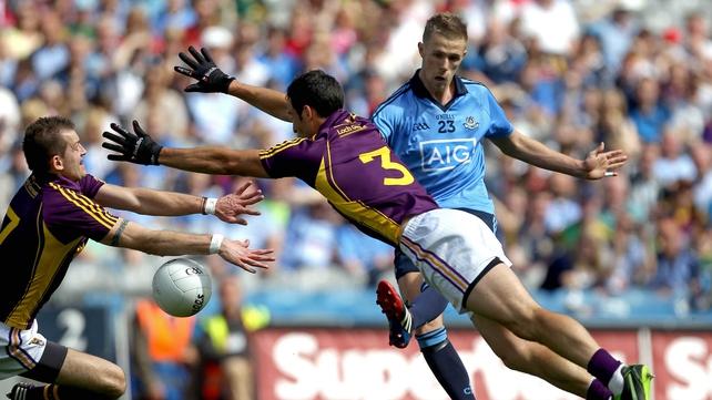 Dublin's Paul Mannion has a shot blocked