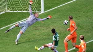 Forcing cagey Dutch keeper Jasper Cillessen to dive all over the box