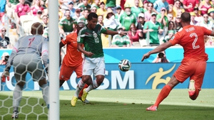 Mexico forward Giovani dos Santos helped his side create 7 shots in the first, compared to Holland's 2
