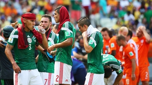 Mexico defender Carlos Salcido was really diggin' that towel