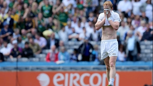 Keith Cribbin of Kildare dejected at the end of the game