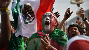 Mexico fans in Rio de Janeiro rejoiced at the huge moment