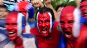Some of the Costa Rica fans might have gotten a bit TOO rowdy...