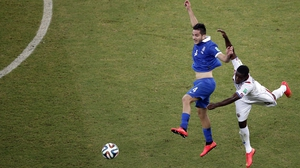 Greece defender Konstantinos Manolas kept Costa Rica's star forward Joel Campbell from creating anything special