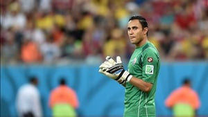 Navas contemplated his Costa Rica's plight, as their ten-man side would have to hold Greece scoreless for the final 20 minutes