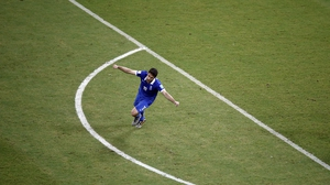The player celebrated giving Greece an equaliser and forcing a tired and weary Costa Rica side to continue on into extra time