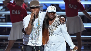 Pharrell and Missy Elliot perform at the BET Awards