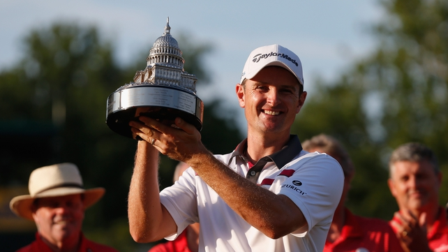 Justin Rose sealed victory on first play-off hole at Congressional