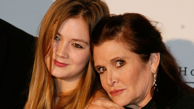 Billie Lourd with her mum Carrie Fisher