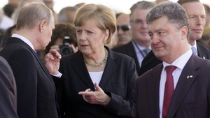 Vladimir Putin, Angela Merkel and Petro Poroshenko held talks with Francois Hollande