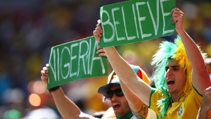 Some fans in Brazil cheered on the Super Eagles of Nigeria, as they attempted to become only the fourth African side to reach a World Cup quarterfinal
