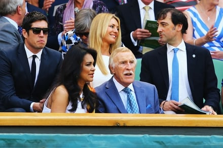 Bruce Forsyth, with his Wife Wilnelia Merced and in the background Vernon Kay and Tess Daly.
