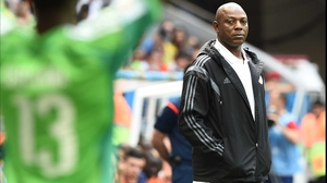While coach Stephen Keshi looked on with a stoic eye