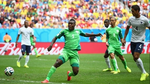 Midway through the first, Emenike seemed to put Nigeria up on a clever close range poke that got past Lloris