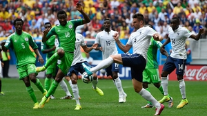 France forward Olivier Giroud attempted to make something happen for his side in the final seconds of the first