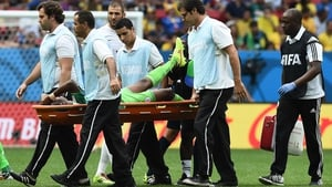 Onazi was stretchered off the pitch moments after, obviously in a great deal of pain