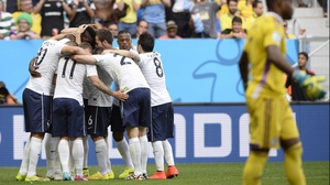France celebrated the score, which put them ahead of a deflated Nigeria side 1-0 with just over ten minutes left to play
