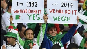 Heading into the half at 0-0, Algeria fans held onto hope that their boys could upset the Germans, just as they did famously at the 1982 World Cup
